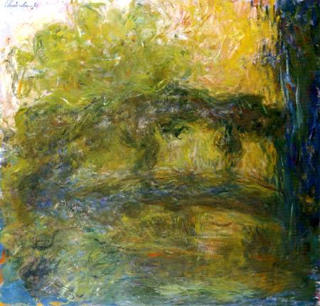 Claude Oscar Monet - Japanische Brücke braun gelb
