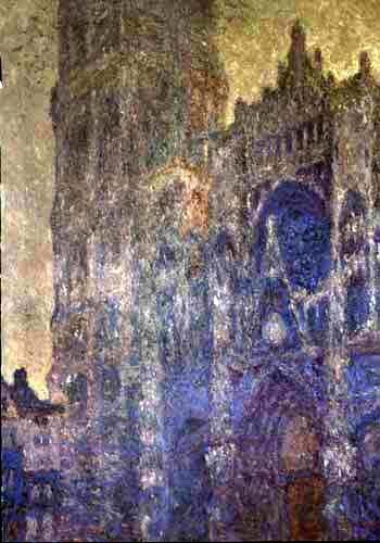 Claude Oscar Monet - Kathedrale von Rouen, Blaue Harmonie