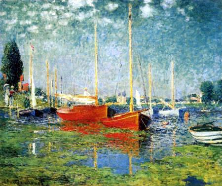 Claude Oscar Monet - Die roten Boote von Argenteuil