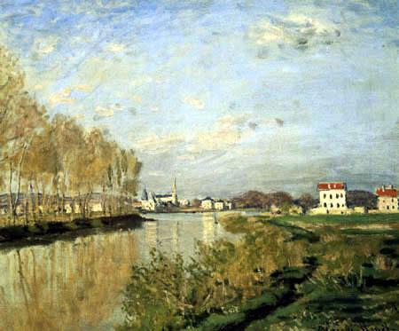 Claude Oscar Monet - Die Seine,  Argenteuil