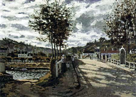 Claude Oscar Monet - Die Seine bei Bougival