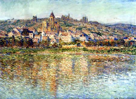 Claude Oscar Monet - Spiegelung: Vetheuil in der Seine
