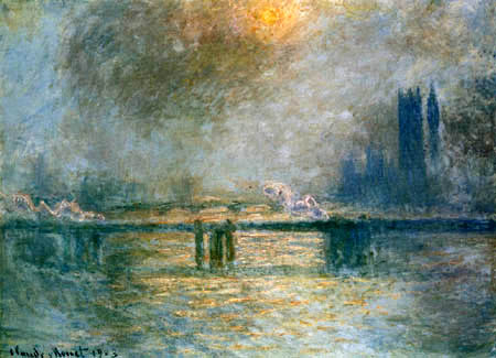 Claude Oscar Monet - Die Themse bei der Charing-Cross-Brücke