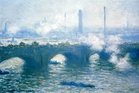 Claude Oscar Monet - Die Themse bei der Waterloo-Brücke, Dämmerung