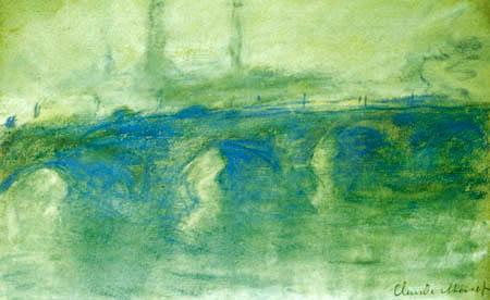 Claude Oscar Monet - Die Waterloo-Brücke, grüne Harmonie
