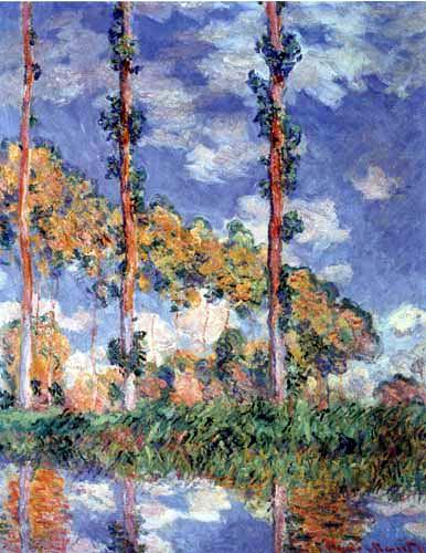 Claude Oscar Monet - Drei Pappeln