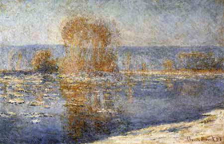 Claude Oscar Monet - Eisschollen in Bennecourt / 2