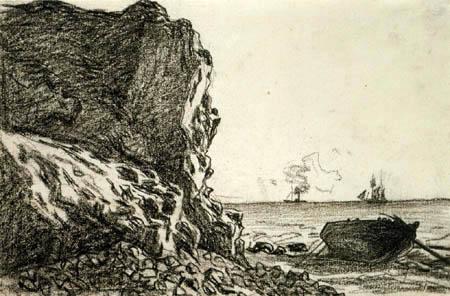 Claude Oscar Monet - Felsküste bei Sainte-Adresse