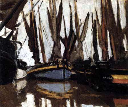Claude Oscar Monet - Fischerboote