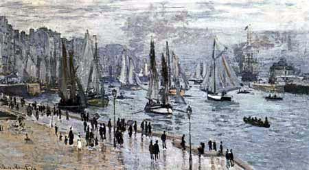 Claude Oscar Monet - Le Havre, bateaux de pêche sortant du port