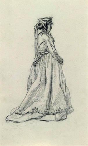 Claude Oscar Monet - Frauenstudie, Camille