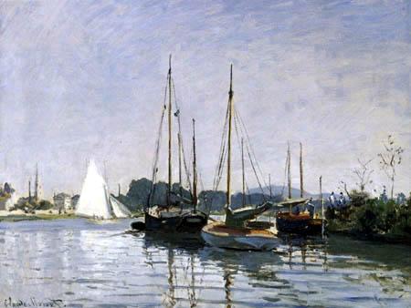 Claude Oscar Monet - Segelboote in Argenteuil