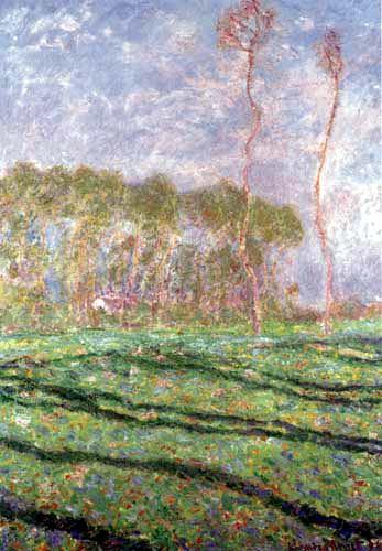 Claude Oscar Monet - Frühlingslandschaft