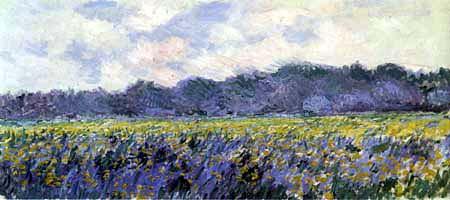 Claude Oscar Monet - Gelbes Irisfeld bei Giverny
