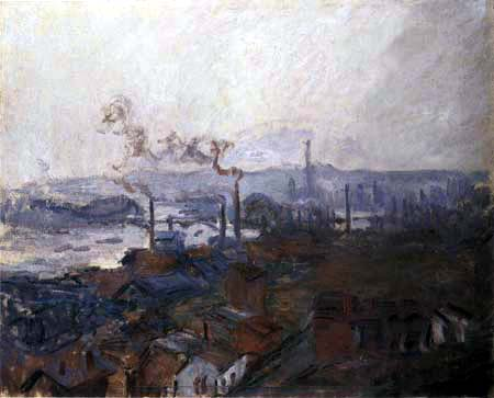Claude Oscar Monet - Ansicht von Rouen