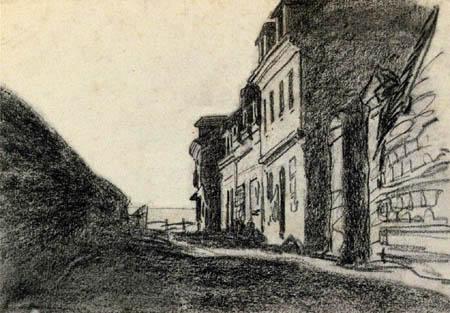 Claude Oscar Monet - Häuser am Meer