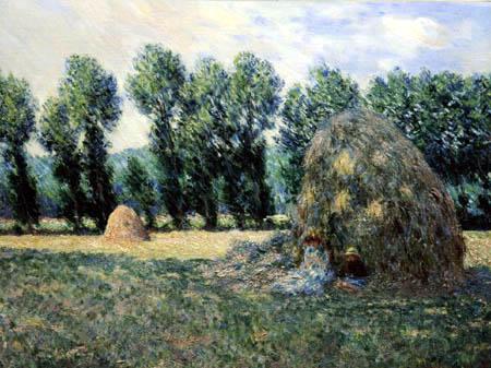 Claude Oscar Monet - Heuhaufen und Paappeln