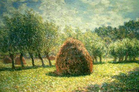 Claude Oscar Monet - Heuhaufen in Giverny, Abendsonne