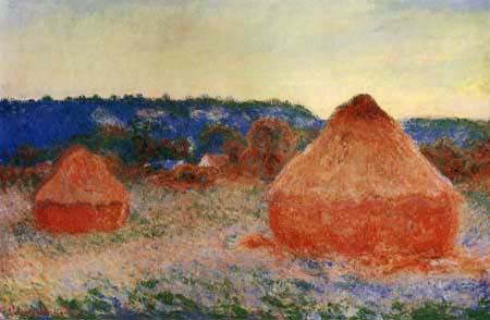 Claude Oscar Monet - Heuhaufen am Ende eines Herbsttages