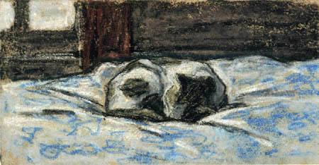 Claude Oscar Monet - Kleine schlafende Katze