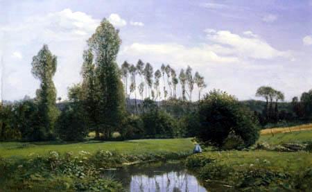 Claude Oscar Monet - Landschaft bei Rouelles, Le Havre