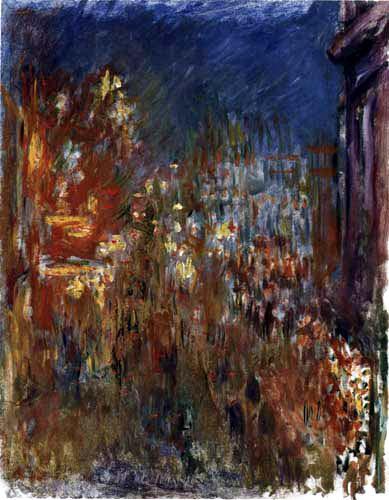 Claude Oscar Monet - Leicester Square bei Nacht