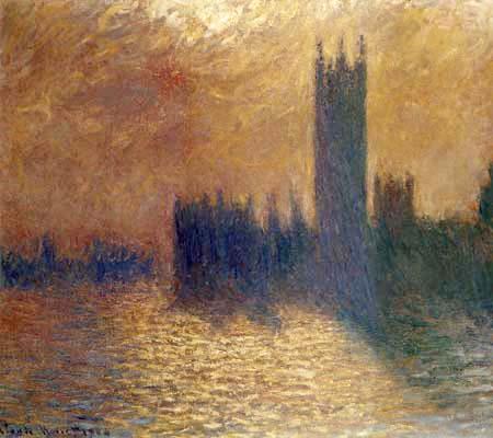 Claude Oscar Monet - Das Parlament, London