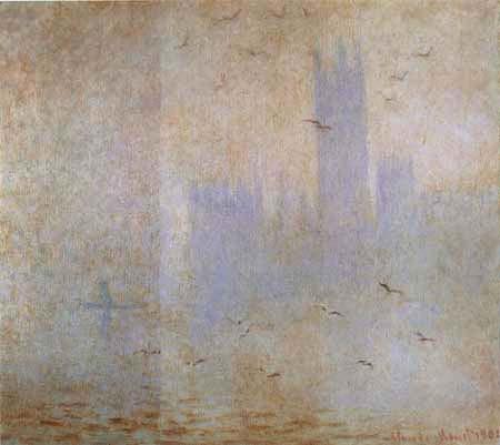 Claude Oscar Monet - Möwen über dem Parlament