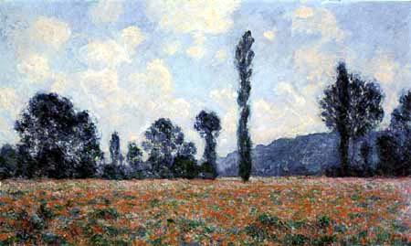 Claude Oscar Monet - Mohnblumenfeld im Sommer