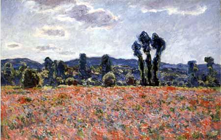Claude Oscar Monet - Mohnfeld bei Giverny