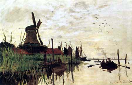 Claude Oscar Monet - Mühle in Zaandam