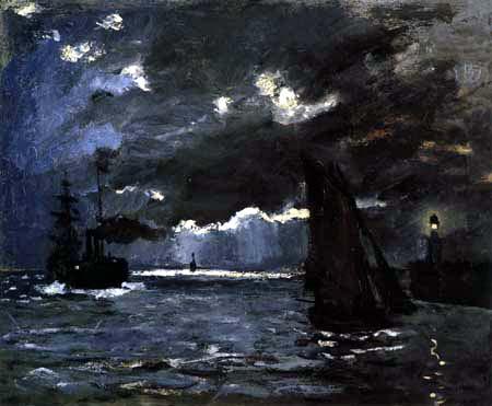 Claude Oscar Monet - Marine, effet de nuit