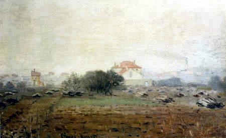 Claude Oscar Monet - Häusert im Nebel