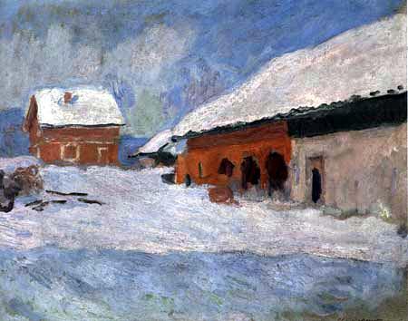 Claude Oscar Monet - Die roten Häuser in Bjornegaard