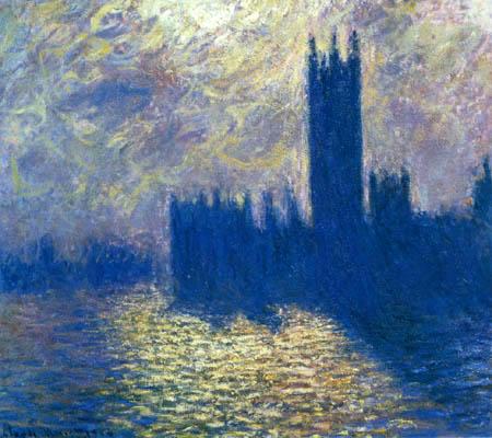 Claude Oscar Monet - Parlamentsgebäude, stürmischer Himmel
