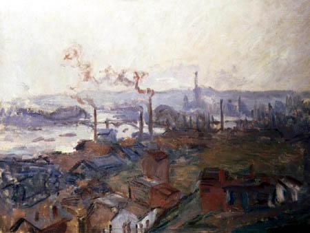 Claude Oscar Monet - Rouen, vom Ufer St Catherine