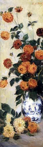 Claude Oscar Monet - Türvertäfeliung Salon Durand-Ruel: Dahlien/D