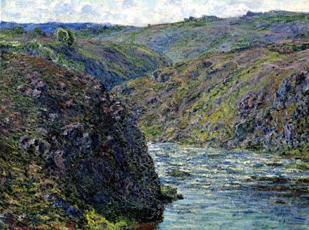 Claude Oscar Monet - Abend in Schluchten der Creuse