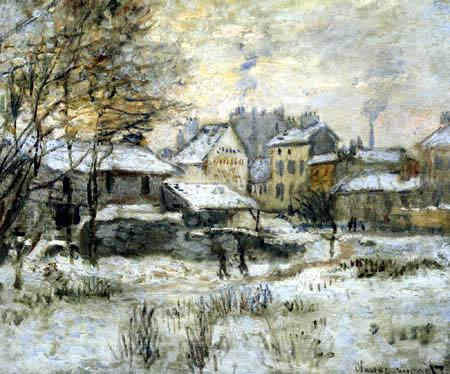 Claude Oscar Monet - Schnee bei Sonnenuntergang