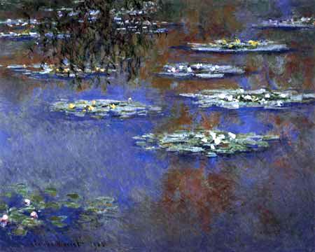 Claude Oscar Monet - Seerosen mit hängenden Weidenzweigen