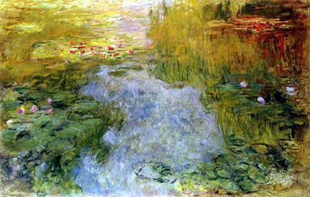 Claude Oscar Monet - Rote Seerosen