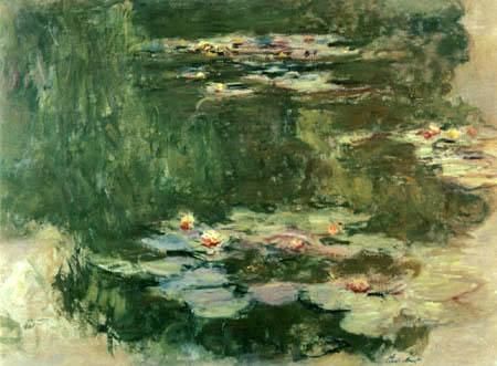 Claude Oscar Monet - Der Seerosenteich, Spiegelung der Bäume