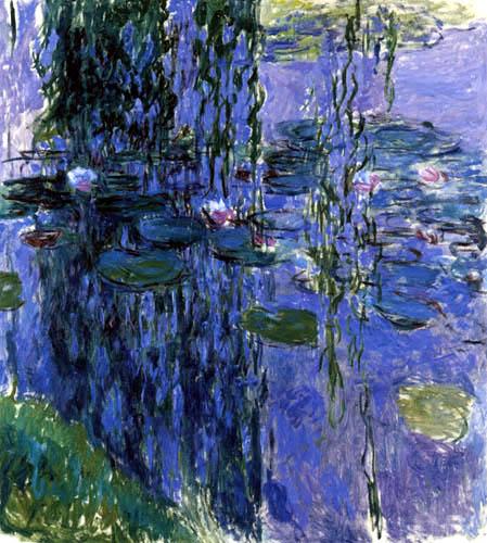 Claude Oscar Monet - Seerosen, Spiegelung der Weiden