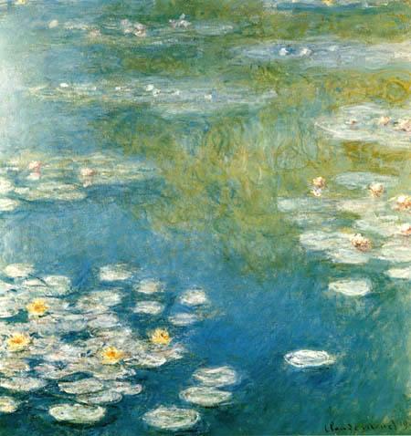 Claude Oscar Monet - Weisse Seerosen in Giverny