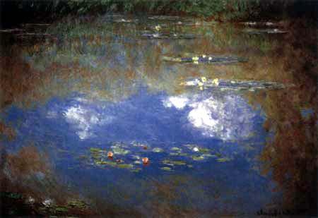 Claude Oscar Monet - Seerosen, Wolkenspiegelung