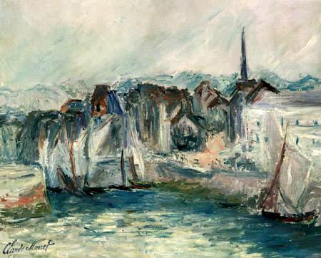 Claude Oscar Monet - Boote im Hafen von Honfleur