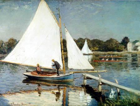 Claude Oscar Monet - Segeln in Argenteuil
