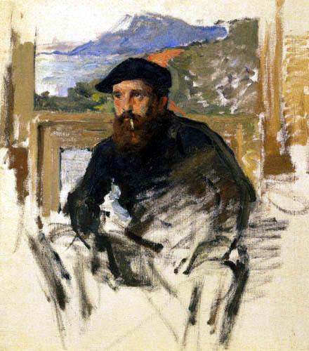 Claude Oscar Monet - Selbstporträt in seinem Atelier