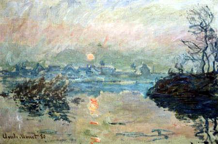 Claude Oscar Monet - Die Seine bei Sonnenuntergang