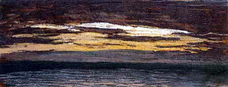 Claude Oscar Monet - Sonnenuntergang am Meer